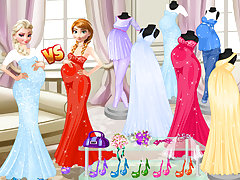 Pregnant Princesses Fashion Dressing Roo
